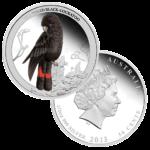 50 центов 2013г. Пруф МДА Краснохвостый черный какаду