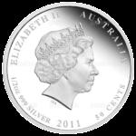50 центов 2011г. Пруф МДА Черепаха бисса