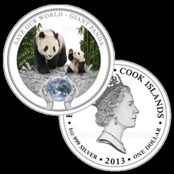 1 доллар 2013г. Пруф Панда (Острова Кука)