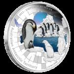 1 доллар 2012г. Пруф Монетный Двор Австралии Императорский пингвин
