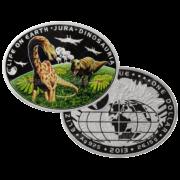 1 доллар 2013г. Пруф Динозавры земные
