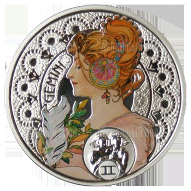 1 доллар 2011г. Пруф Близнецы