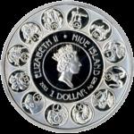 1 доллар 2011г. Пруф Лев (Ниуэ)