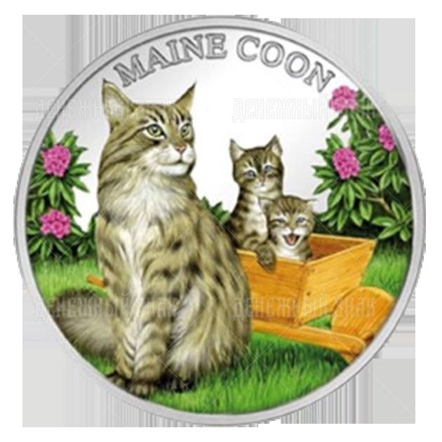 500 франков 2011г. Пруф Кошка Мейн-Кун