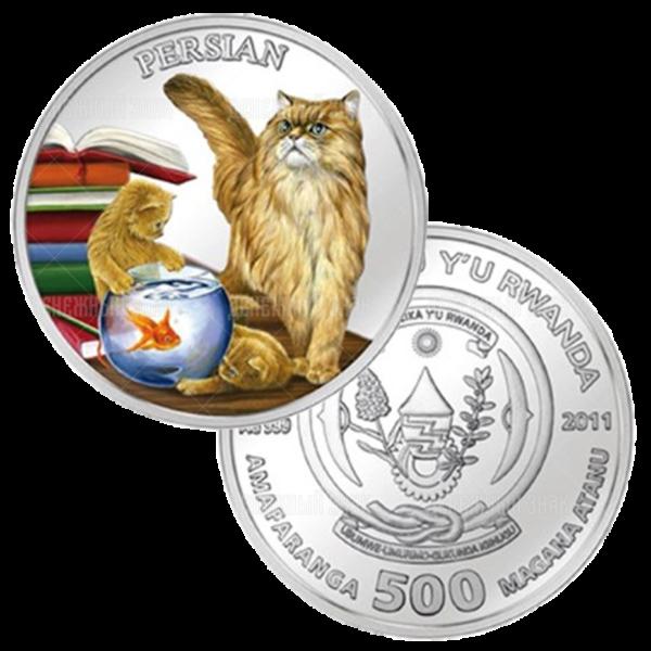 500 франков 2011г. Пруф Персидская кошка