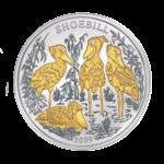 1000 франков 2009г. Пруф Королевская цапля Китоглав