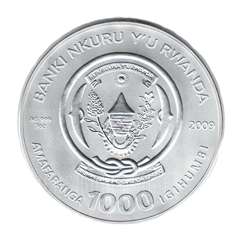 1000 франков 2009г. Пруф Телец