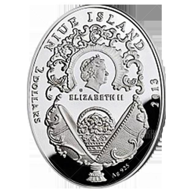"""2 доллара 2013г. Яйцо """"Московский Кремль"""""""