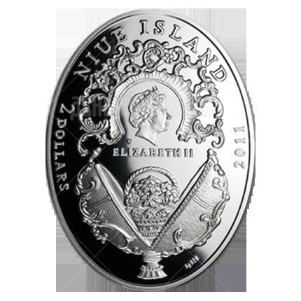 """2 доллара 2011г. Яйцо """"Анютины глазки"""""""