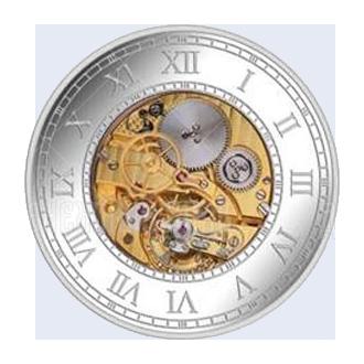 500 шиллингов 2016г. Пруф Песочные часы