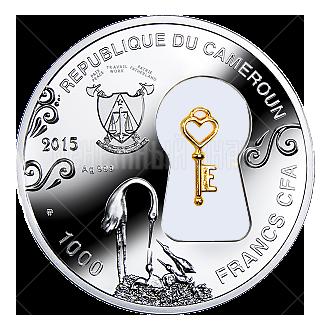 1000 франков 2015г. Пруф Семейное счастье