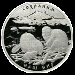 100 рублей 2008г. Пруф СПМД Речной бобр